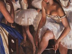 Ballerinas in the dressing room – Zinaida Serebriakova