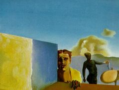 Barber Saddened by the Persistence of Good Weather (The Anguished Barber) – Salvador Dali