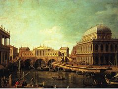 Basilica di Vecenza and the Ponte de Rialto – Canaletto