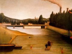 Bathing at Alfortville – Henri Rousseau