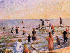 Bathing at Bellport, Long Island – William James Glackens