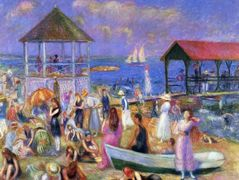 Beach Scene, New London – William James Glackens