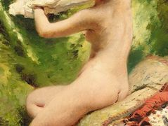 Beauty preparing to bathe – Konstantin Makovsky