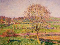 Big Walnut Tree at Eragny – Camille Pissarro