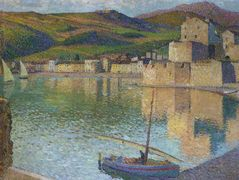 Blue Boat in Port Collioure – Henri Martin
