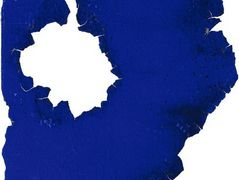 Blue Monochrome Pierced by Fire – Yves Klein