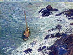 Boat near Cliffs – Henri Martin