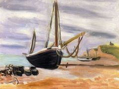 Boats at Etretat – Henri Matisse