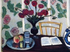 Bouquet of Dahlias and White Book – Henri Matisse