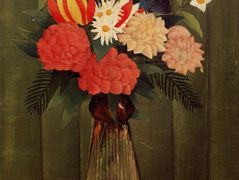 Bouquet of Flowers with an Ivy Branch – Henri Rousseau