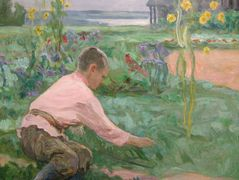 Boy on a Grass – Nikolay Bogdanov-Belsky