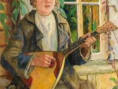 Boy with Balalaika – Nikolay Bogdanov-Belsky