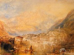 Brunnen, from the Lake of Lucerne — William Turner
