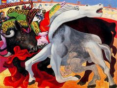 Bullfight, the death of the torero — Pablo Picasso