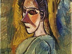 Bust of young woman from Avignon — Pablo Picasso
