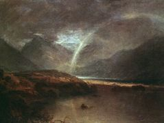Buttermere Lake, a Shower — William Turner