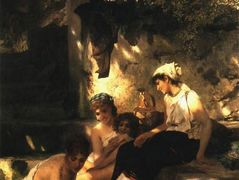By a Pool. A Scene from Roman Life – Henryk Siemiradzki