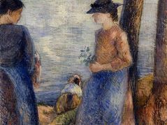 By the Water – Camille Pissarro