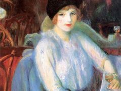 Cafe Lafayette (Portrait of Kay Laurel)  – William James Glackens