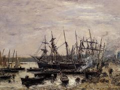Camaret, Fishing Boats at Dock – Eugene Boudin