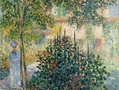 Camille Monet in the Garden at the House in Argenteuil – Claude Monet