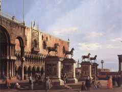 Capriccio: The Horses of San Marco in the Piazzetta – Canaletto