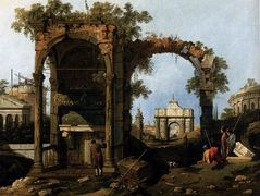 Capriccio with Classical Ruins and Buildings – Canaletto