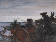 Catherine II Setting out to Hunt with Falcons – Valentin Serov