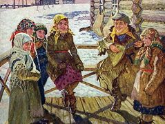 Celebration on a Steps – Nikolay Bogdanov-Belsky