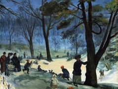 Central Park in Winter – William James Glackens