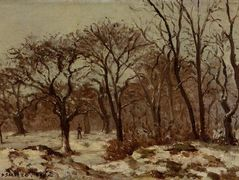 Chestnut Orchard in Winter – Camille Pissarro