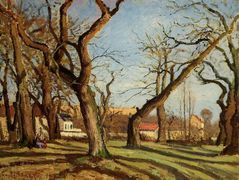 Chestnut Trees at Louveciennes – Camille Pissarro