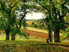 Chestnut Trees at Osny – Camille Pissarro