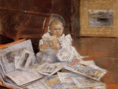 Child with Prints – William Merritt Chase