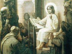 Christ among the teachers – Konstantin Makovsky