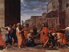 Christ and the adulteress – Nicolas Poussin