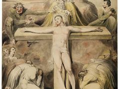 Christ Nailed to the Cross The Third Hour – William Blake