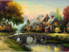 Cobblestone Bridge – Thomas Kinkade