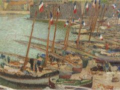 Collioure port July 14 – Henri Martin