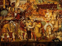 Colonisation, 'The Great City of Tenochtitlan' — Diego Rivera