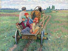 Coming after the daily work – Nikolay Bogdanov-Belsky