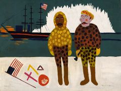 Commodore Peary and Henson at the North Pole – William H. Johnson