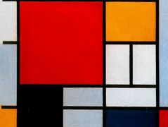 Composition with Large Red Plane, Yellow, Black, Gray and Blue – Piet Mondrian