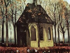 Congregation Leaving the Reformed Church in Nuenen – Vincent van Gogh