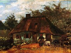 Cottage and Woman with Goat – Vincent van Gogh