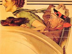 Couple in Rumble Seat – Norman Rockwell