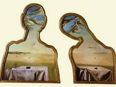 Couple with Their Heads Full of Clouds – Salvador Dali