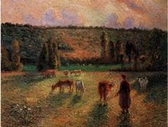 Cowherd at Eragny – Camille Pissarro