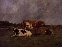Cows in Pasture – Eugene Boudin