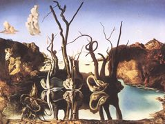 Swans Reflecting Elephants – Salvador Dali